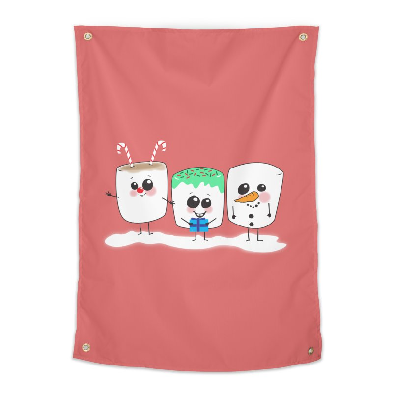 Festive Marshmallows Home Tapestry by LLUMA Creative Design