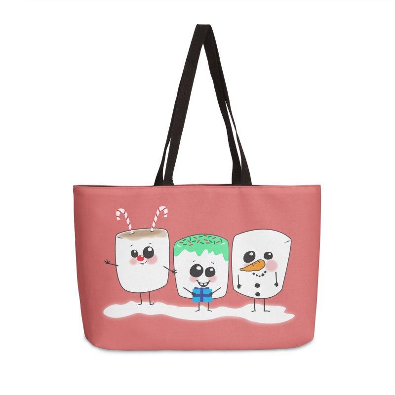 Festive Marshmallows Accessories Weekender Bag Bag by LLUMA Creative Design