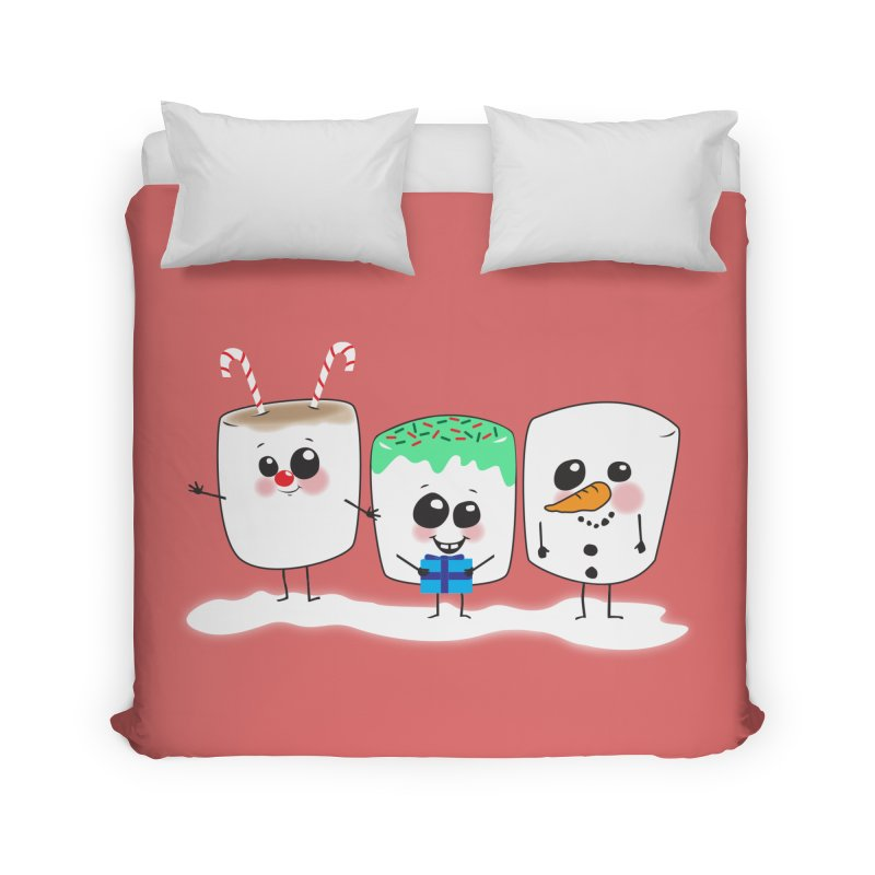 Festive Marshmallows Home Duvet by LLUMA Design
