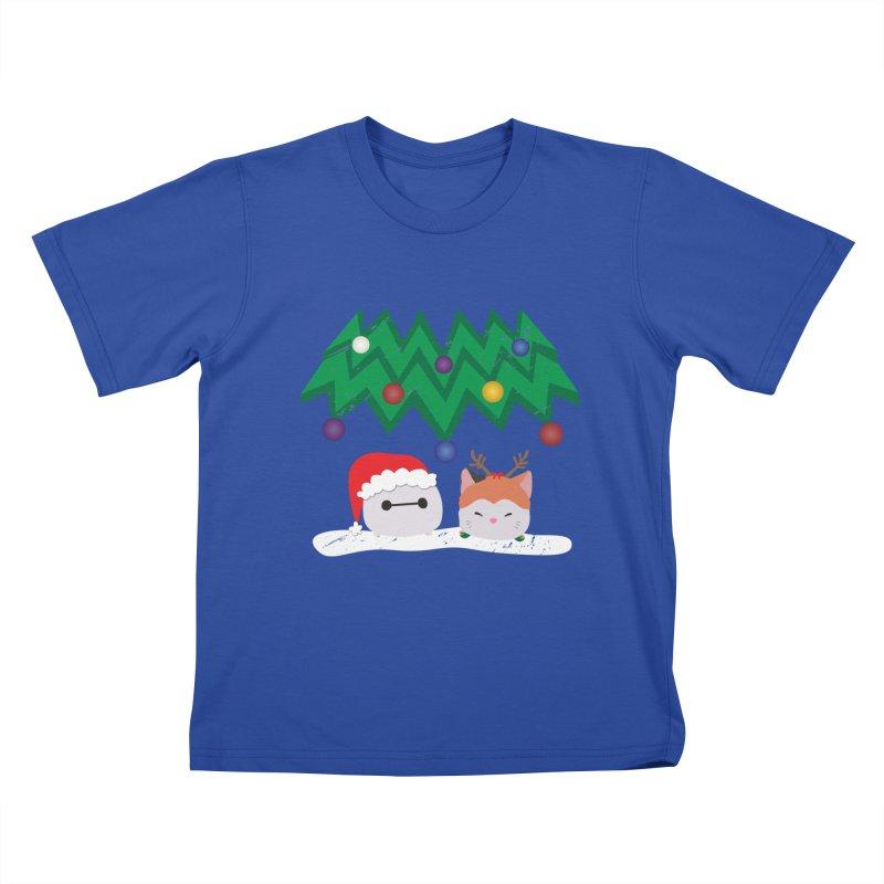 Santa Baymax Kids T-Shirt by LLUMA Design