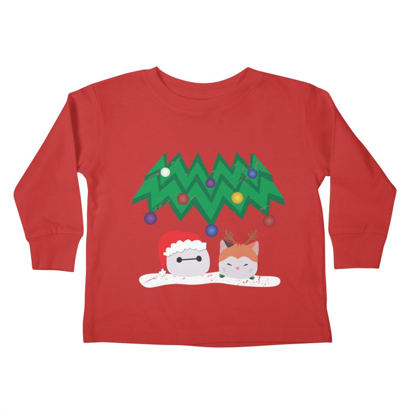 Santa Baymax Kids Toddler Longsleeve T-Shirt by LLUMA Design