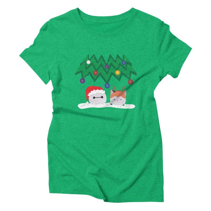 Santa Baymax Women's Triblend T-Shirt by LLUMA Design