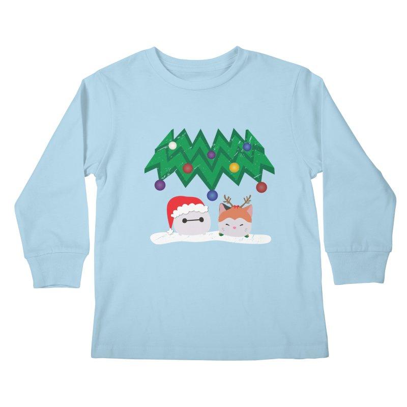 Santa Baymax Kids Longsleeve T-Shirt by LLUMA Design