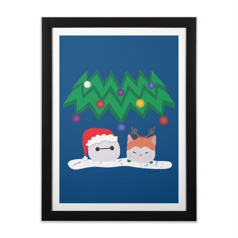 Santa Baymax Home Framed Fine Art Print by LLUMA Design