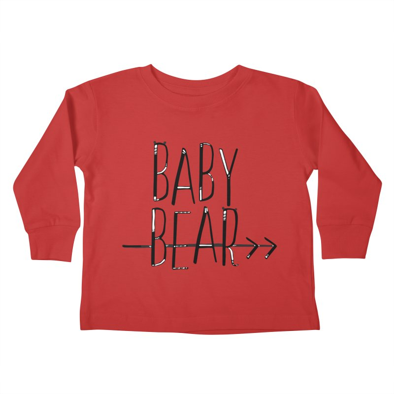 Baby Bear Kids Toddler Longsleeve T-Shirt by LLUMA Design