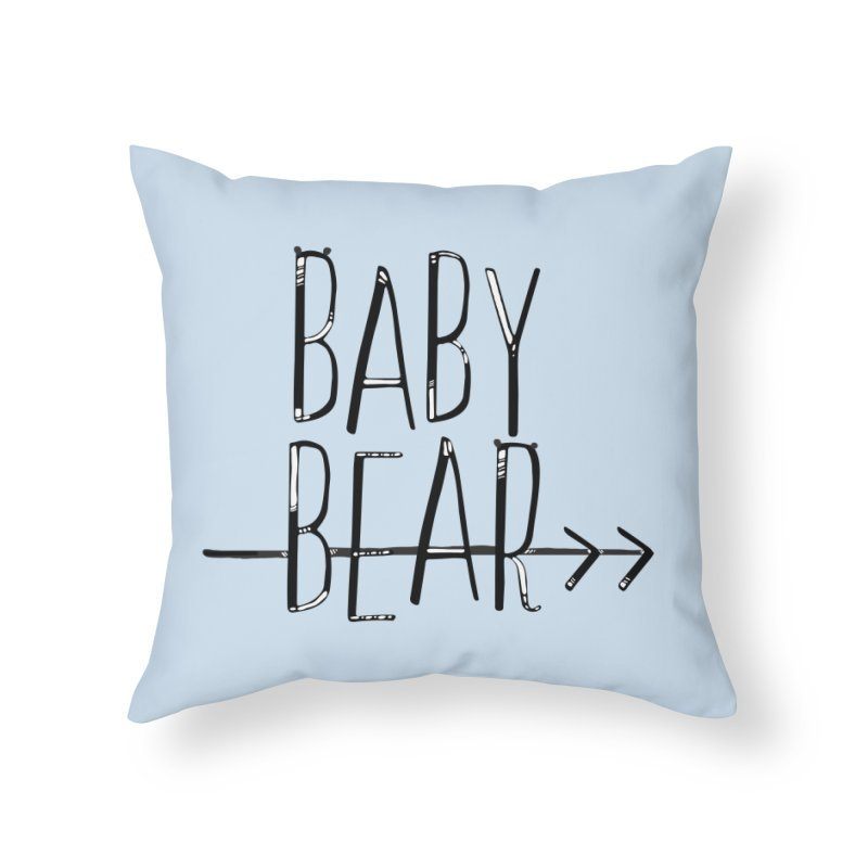 Baby Bear Home Throw Pillow by LLUMA Creative Design