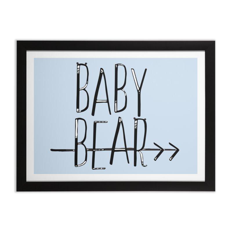 Baby Bear Home Framed Fine Art Print by LLUMA Creative Design
