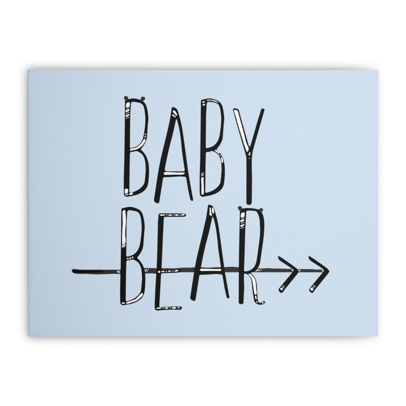 Baby Bear Home Stretched Canvas by LLUMA Creative Design