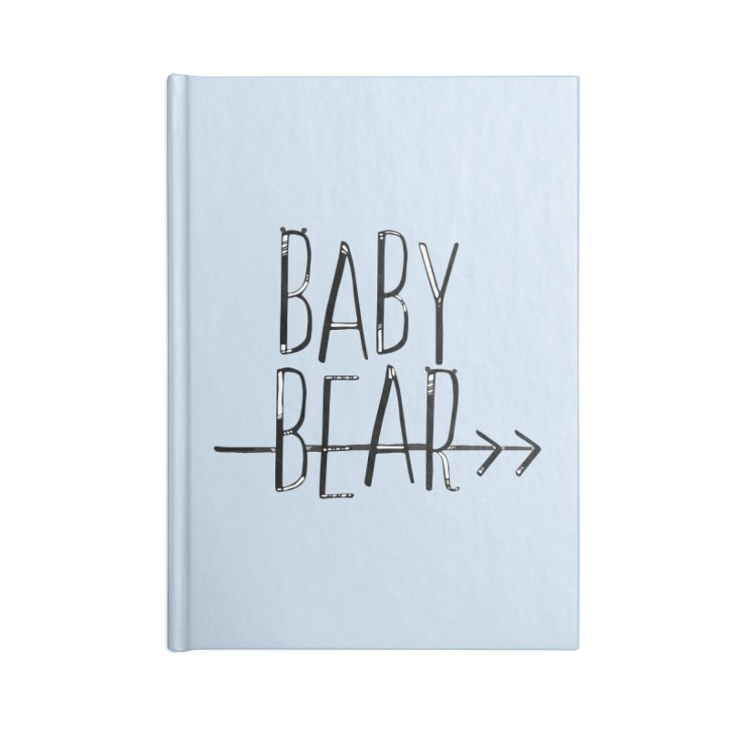 Baby Bear Accessories Lined Journal Notebook by LLUMA Creative Design