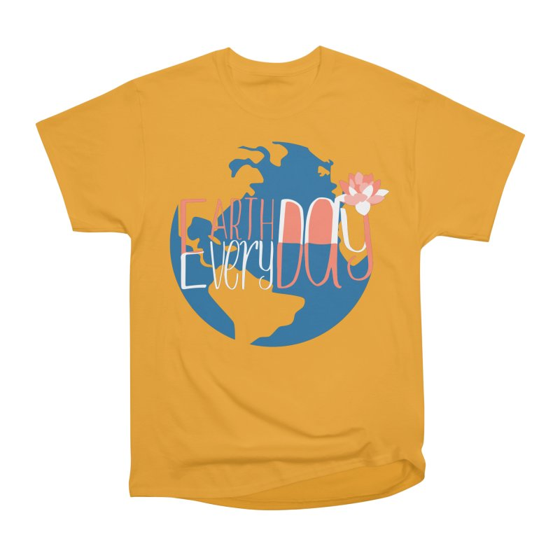 Earth Day Every Day Men's Heavyweight T-Shirt by LLUMA Creative Design