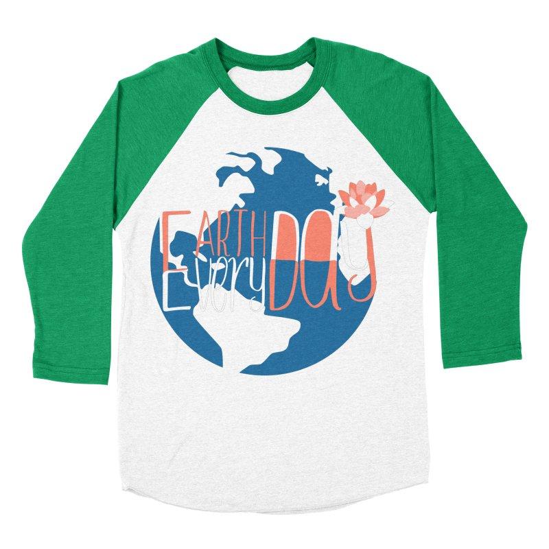 Earth Day Every Day Women's Baseball Triblend T-Shirt by LLUMA Creative Design