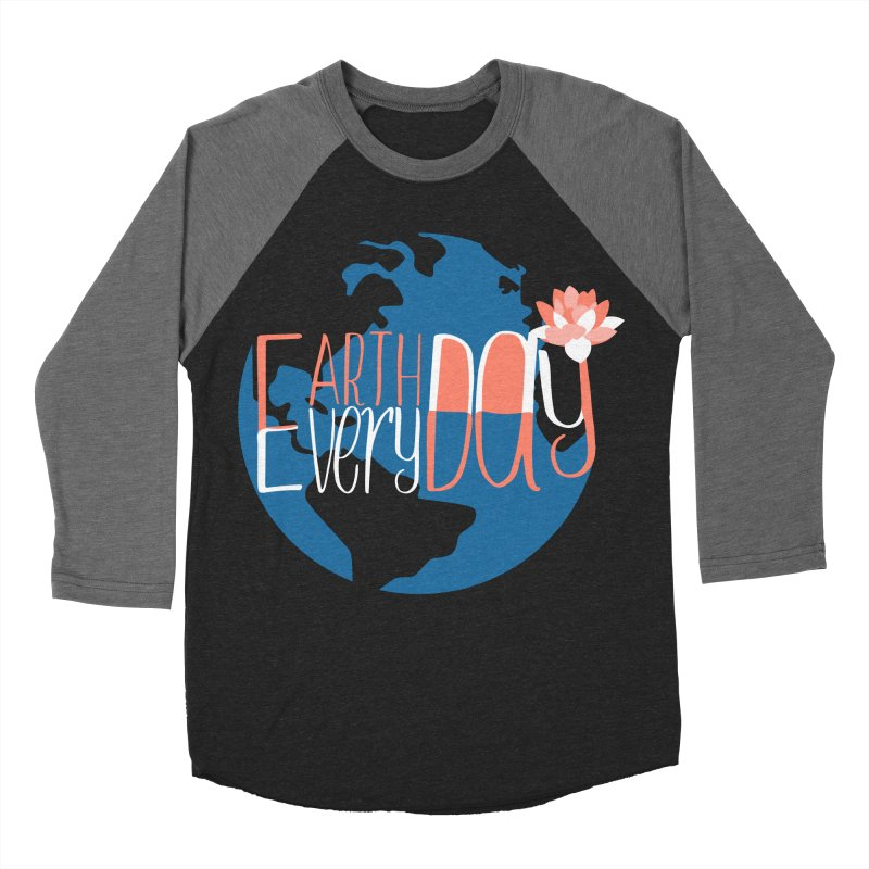 Earth Day Every Day Men's Baseball Triblend T-Shirt by LLUMA Creative Design