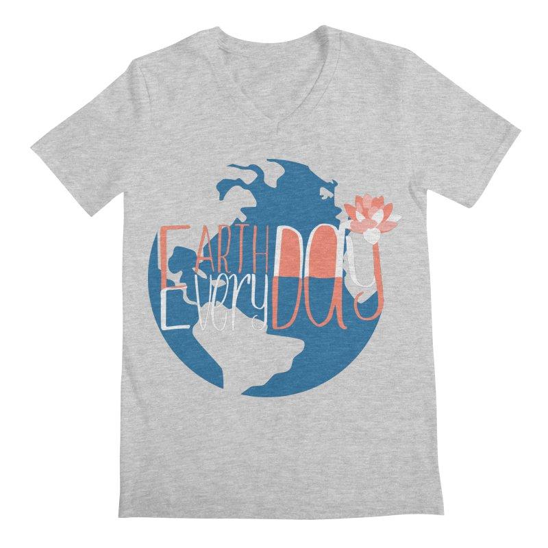 Earth Day Every Day Men's V-Neck by LLUMA Creative Design