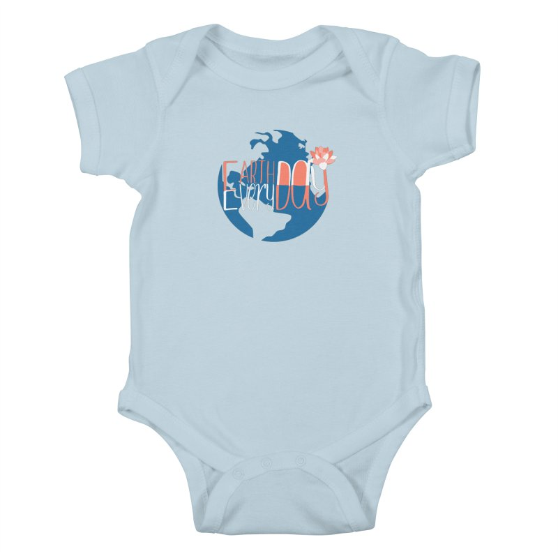 Earth Day Every Day Kids Baby Bodysuit by LLUMA Creative Design