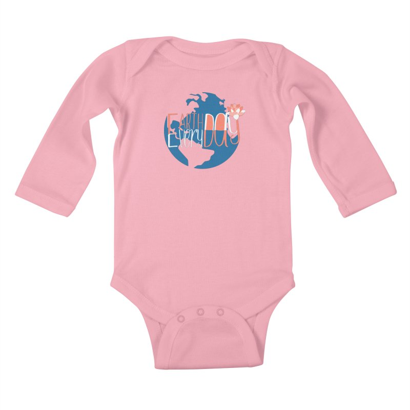 Earth Day Every Day Kids Baby Longsleeve Bodysuit by LLUMA Creative Design