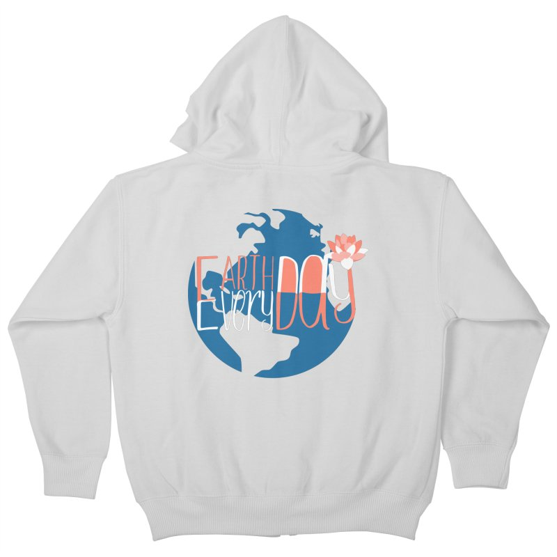 Earth Day Every Day Kids Zip-Up Hoody by LLUMA Creative Design