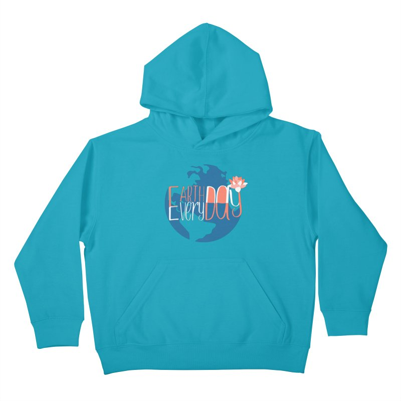 Earth Day Every Day Kids Pullover Hoody by LLUMA Creative Design