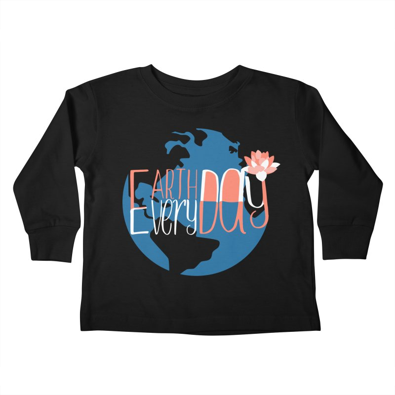 Earth Day Every Day Kids Toddler Longsleeve T-Shirt by LLUMA Creative Design