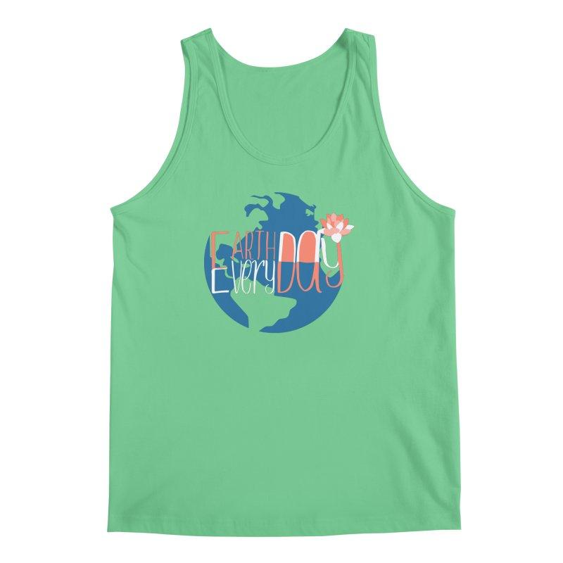 Earth Day Every Day Men's Tank by LLUMA Creative Design