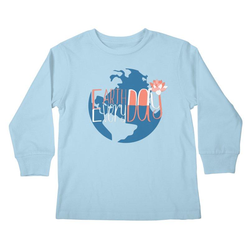 Earth Day Every Day Kids Longsleeve T-Shirt by LLUMA Creative Design