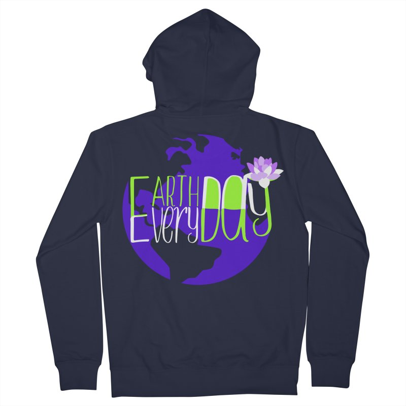 EDED - Earth Day Every Day Men's Zip-Up Hoody by LLUMA Creative Design