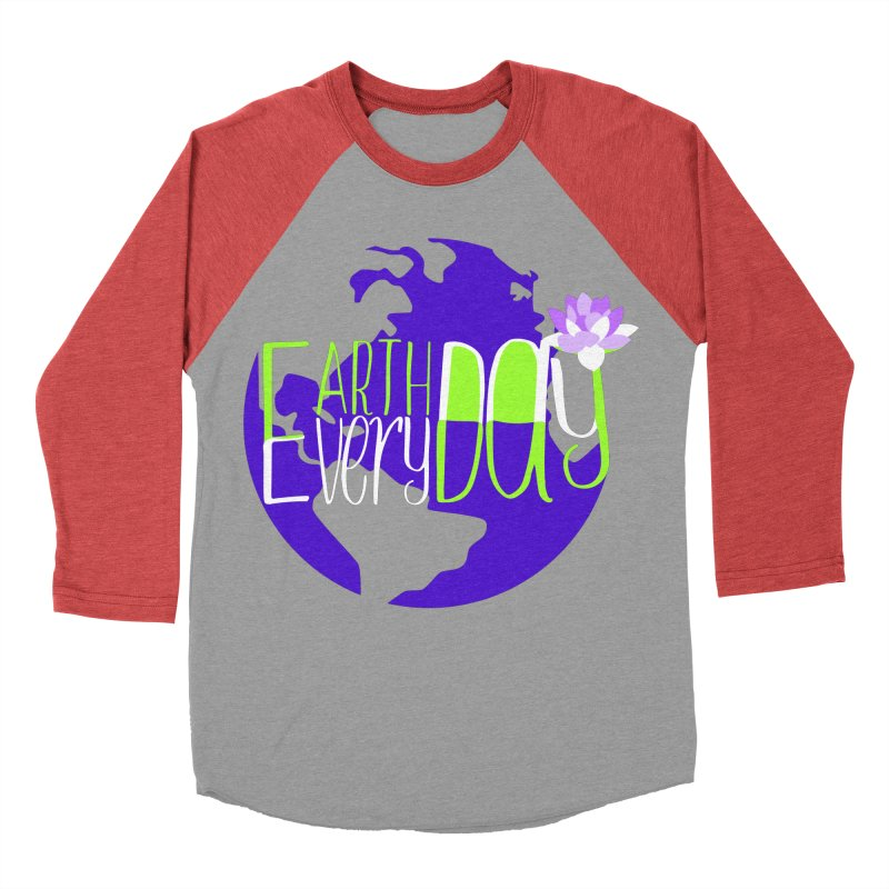 EDED - Earth Day Every Day Men's Baseball Triblend T-Shirt by LLUMA Creative Design