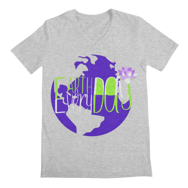 EDED - Earth Day Every Day Men's V-Neck by LLUMA Creative Design