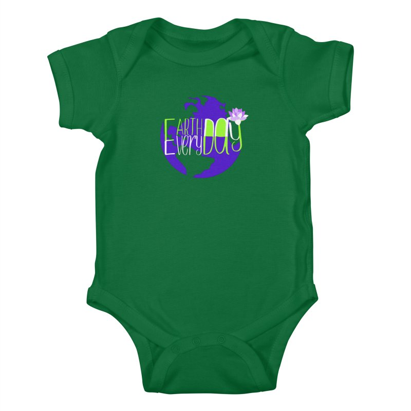 EDED - Earth Day Every Day Kids Baby Bodysuit by LLUMA Creative Design