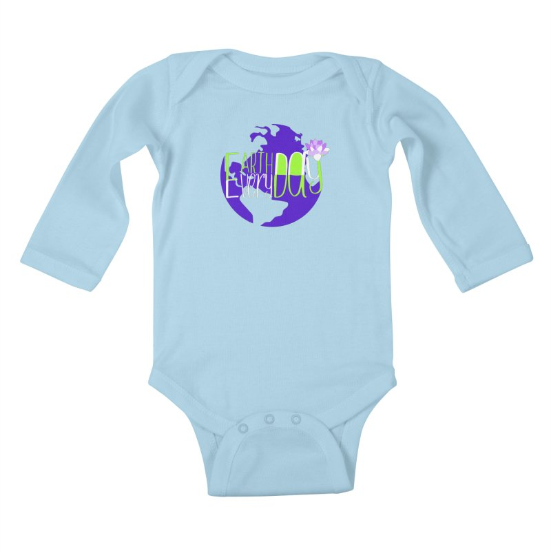 EDED - Earth Day Every Day Kids Baby Longsleeve Bodysuit by LLUMA Creative Design