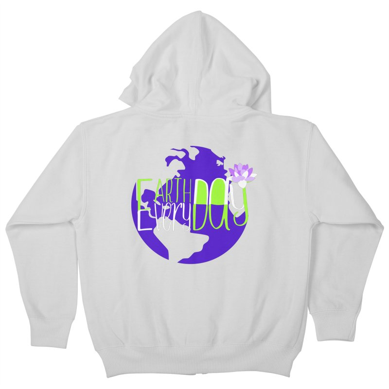 EDED - Earth Day Every Day Kids Zip-Up Hoody by LLUMA Creative Design