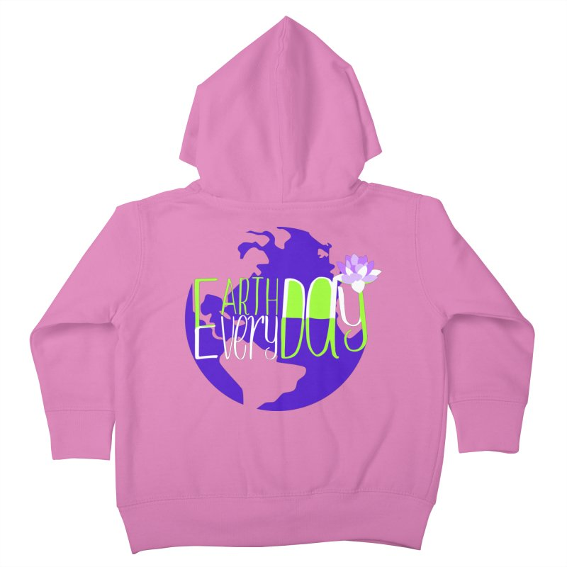 EDED - Earth Day Every Day Kids Toddler Zip-Up Hoody by LLUMA Creative Design