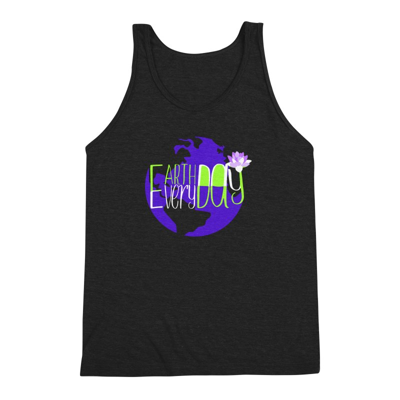 EDED - Earth Day Every Day Men's Triblend Tank by LLUMA Creative Design