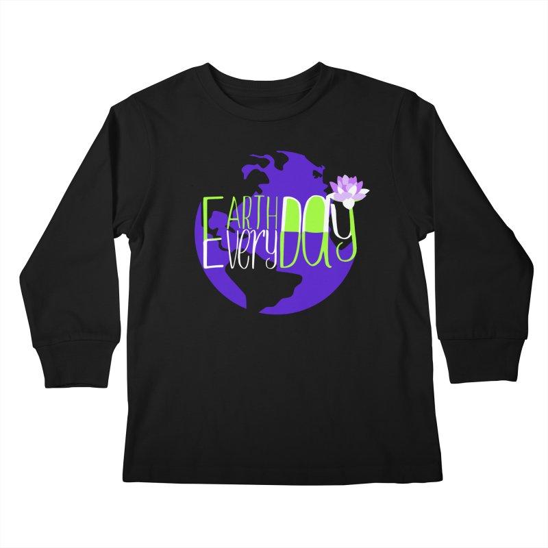 EDED - Earth Day Every Day Kids Longsleeve T-Shirt by LLUMA Creative Design