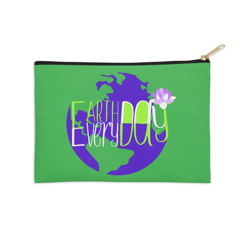 EDED - Earth Day Every Day Accessories Zip Pouch by LLUMA Creative Design