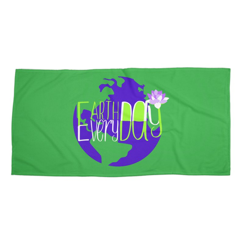EDED - Earth Day Every Day Accessories Beach Towel by LLUMA Creative Design