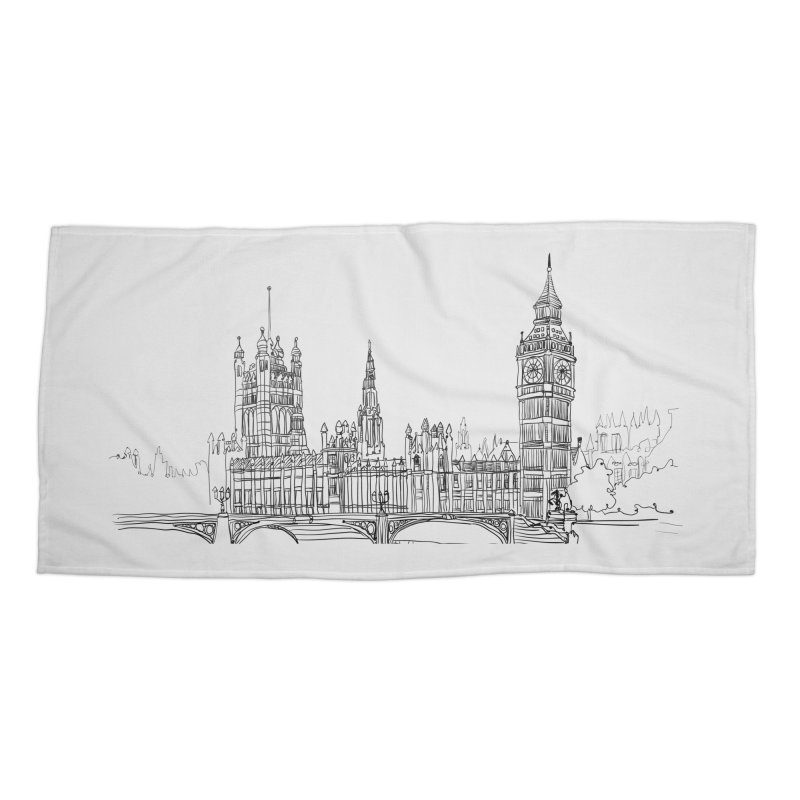 London, England Accessories Beach Towel by LLUMA Creative Design