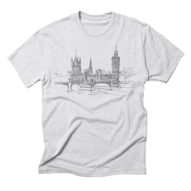 London, England Men's Triblend T-Shirt by LLUMA Design