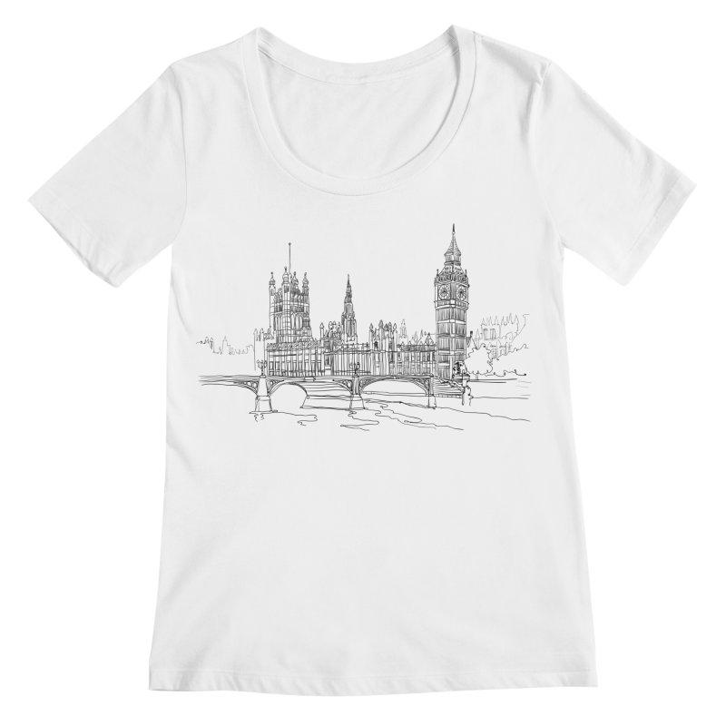 London, England Women's Scoopneck by LLUMA Design