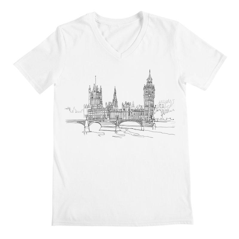 London, England Men's V-Neck by LLUMA Creative Design