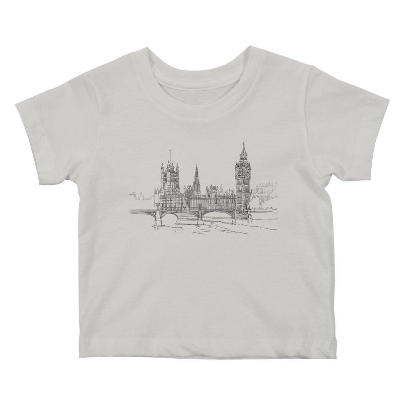 London, England Kids Baby T-Shirt by LLUMA Creative Design