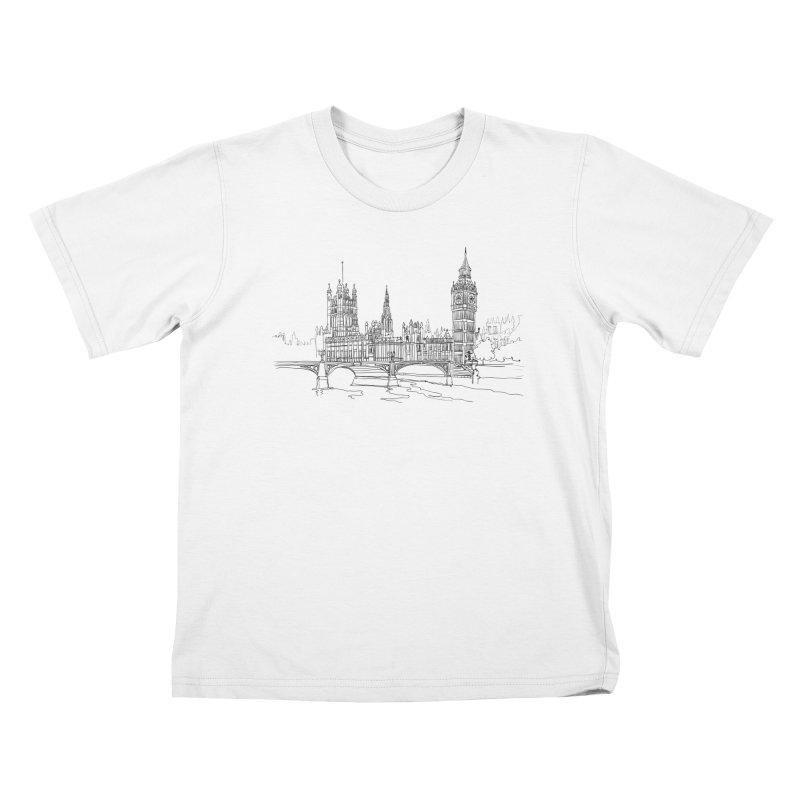 London, England Kids T-Shirt by LLUMA Creative Design