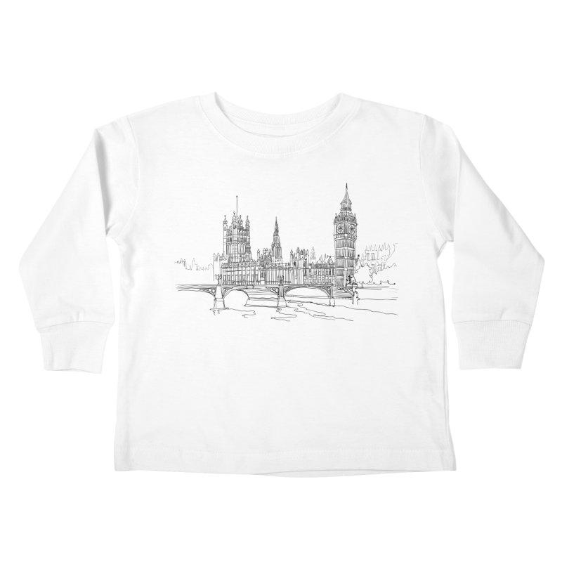 London, England Kids Toddler Longsleeve T-Shirt by LLUMA Creative Design