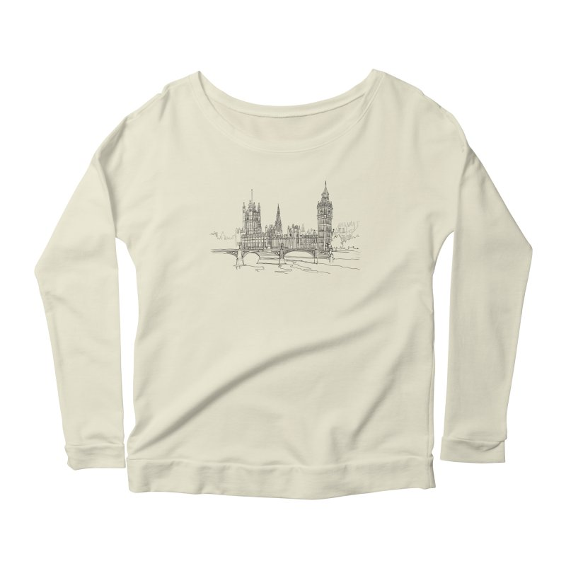 London, England Women's Longsleeve Scoopneck  by LLUMA Design