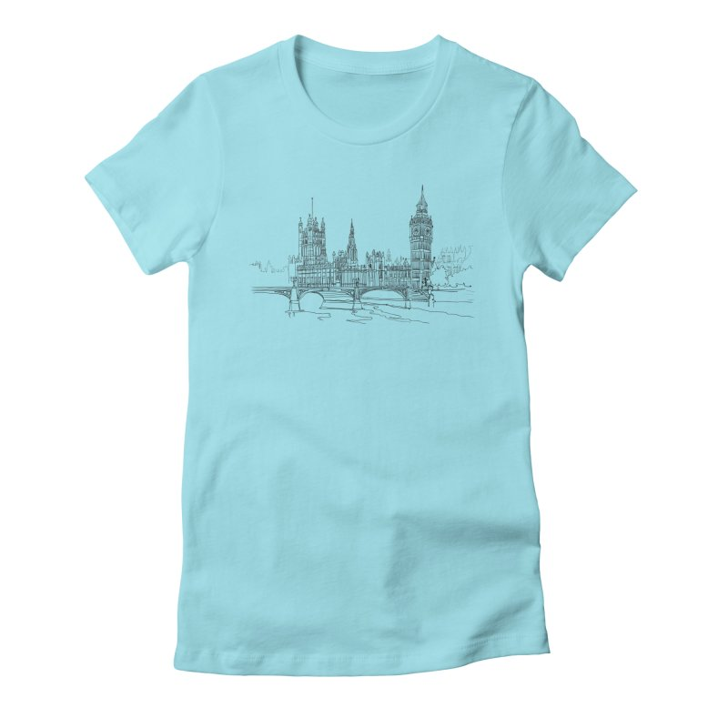London, England Women's Fitted T-Shirt by LLUMA Design