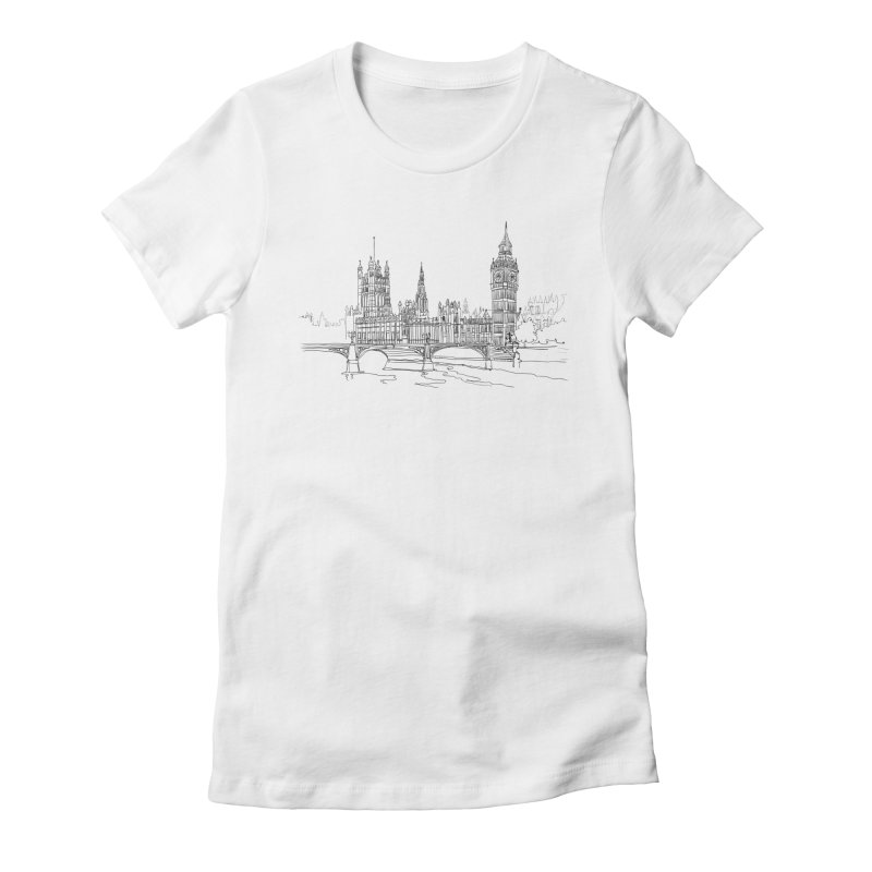 London, England Women's Fitted T-Shirt by LLUMA Creative Design
