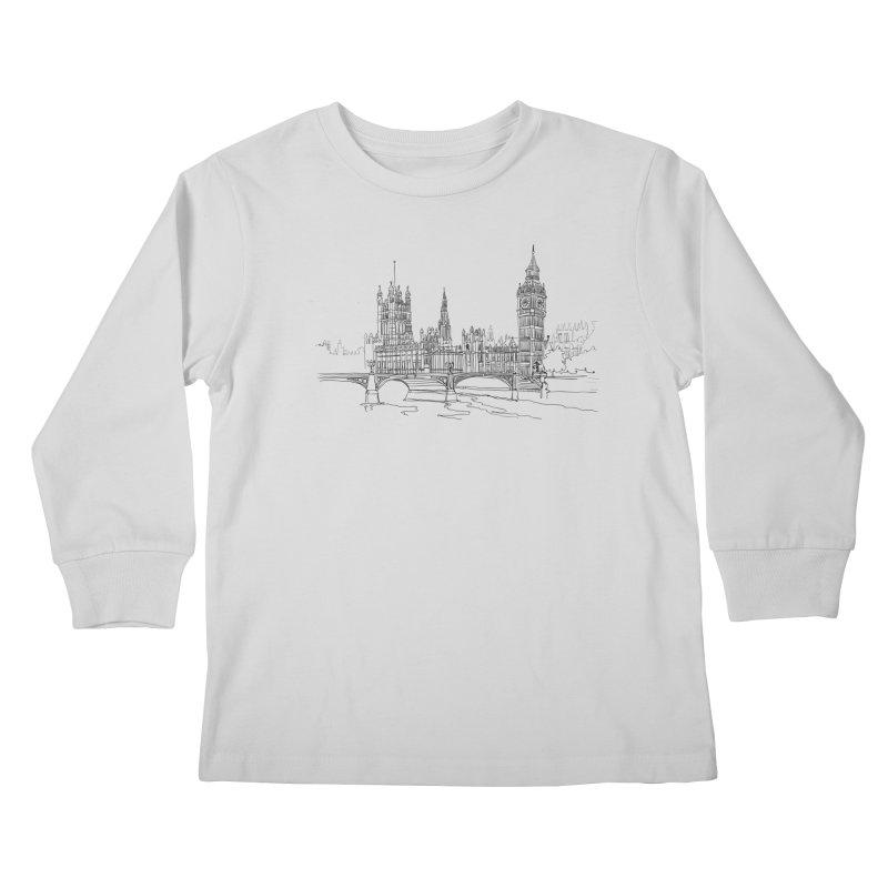 London, England Kids Longsleeve T-Shirt by LLUMA Design