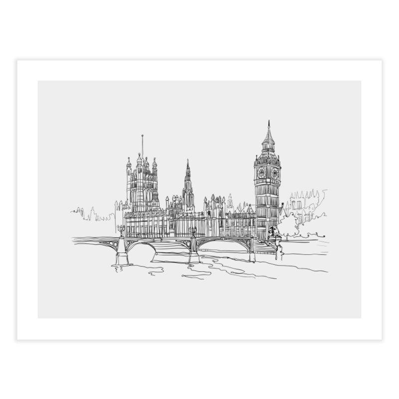 London, England Home Fine Art Print by LLUMA Creative Design