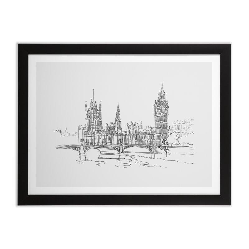 London, England Home Framed Fine Art Print by LLUMA Creative Design
