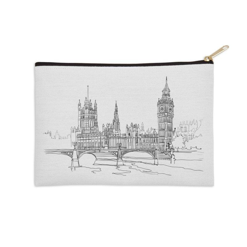 London, England Accessories Zip Pouch by LLUMA Design