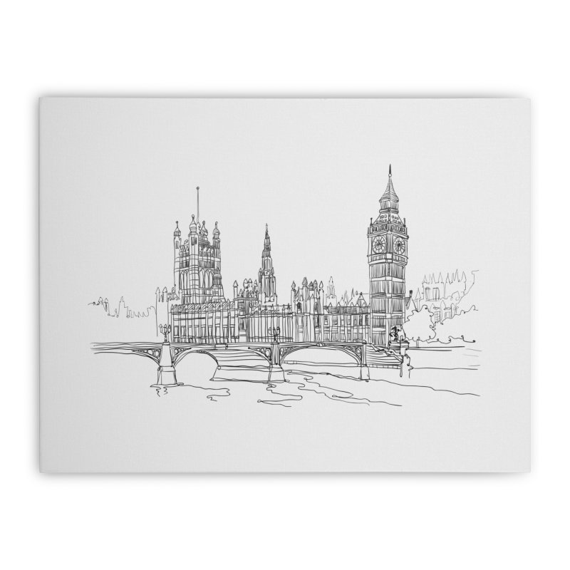 London, England Home Stretched Canvas by LLUMA Design